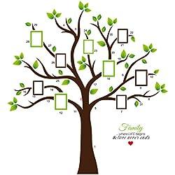 Große wasserdichte Stammbaum Wand-Kunst-Abziehbilder Fotorahmen Baum-Wand-Aufkleber für Dekor Ihr Wohnzimmer, Kinderzimmer, Büro, Arbeitszimmer usw.