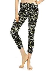 pengweiPantalons de yoga pantalons de sport de dames imprim¨¦s ¨¦taient minces pantalons de faisceau ¨¤ neuf points