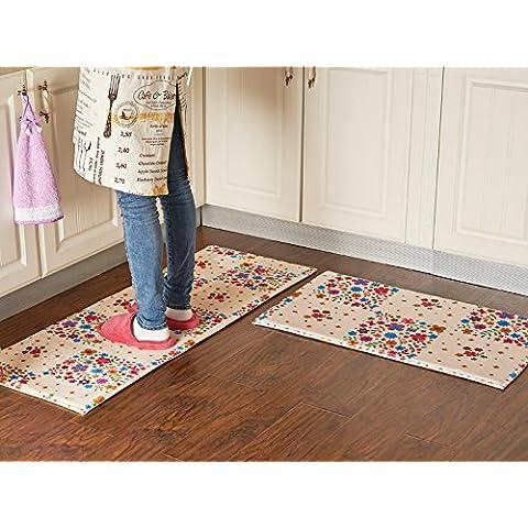 YangR*La Cocina, sala de estar en la Fußmatte Fußmatte largo inicio puerta Footpad sog hidratación Anti-Rutsch-Pad, en la máquina de lavado de manos ,45*120 (1 Unidades) , de Full
