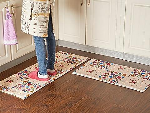 BLZZR*Die Küche Fußmatte lange Wasseraufnahme rutschhemmende öl-beständig Fußbad Schlafzimmer Tür mat kann in der Maschine gewaschen werden die Fußmatte, 50*80cm, Full House