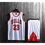 Mens Michael Jordan #23 Chicago Bulls RETRO Basketball Shorts Zomer Jerseys Basketbal Uniform Top&Short Sportswear