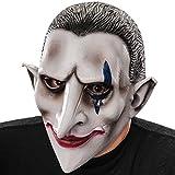 Carnival Toys - Máscara de látex vampiro con encabezado, color gris (1429)