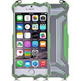 R-JUST Gundam doble Color oxidación aluminio Metal carcasa para iPhone 6 Plus 5,5 – verde