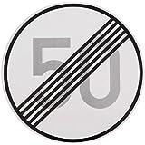 ORIGINAL Verkehrszeichen ENDE 50 km/h Verkehrschild für den 60 Geburtstag Geschenk mit RAL Gütezeichen StVO Geburtstagsschild Straßenschild Verkehrsschilder Schild Schilder Straßenzeichen Straßenschilder Geschwindigkeitsaufhebung Geburtstagsgeschenk
