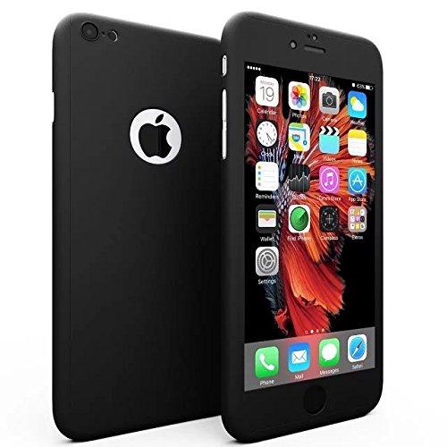 Kcfir iPhone 66S Full Body protettivo morbido TPU lusso finitura opaca sottile antiurto antiscivolo e anti impronte digitali cover anteriore e posteriore + schermo in vetro temperato nu