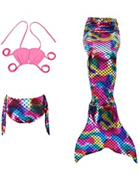 Le SSara Sea-maid maillots de bain sirène Shell maillot de bain 3pcs ensembles Bikini filles