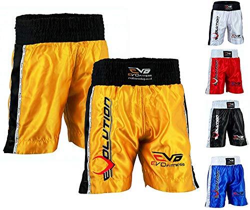 EVO Herren Boxhose Kampfsport MMA Kickboxen Kampfsport Gear Muay Thai UFC - XXL - rot