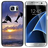 STPlus Dauphin Animal de mer Coque Rigide Étui Cache pour Samsung Galaxy S7 Edge