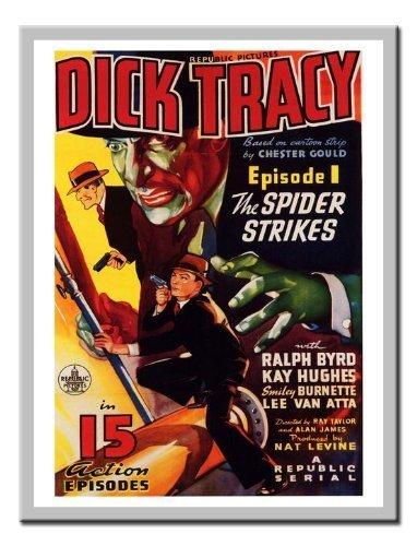 iPosters Dick Tracy Serial Movie Druck 1937Memo Board, Magnet Silber gerahmt–41x 31cms (ca. 40,6x 30,5cm) (1937-kunst-druck)