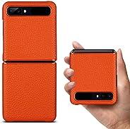 iCoverCase for Samsung Galaxy Z Flip Case-荔枝纹皮套