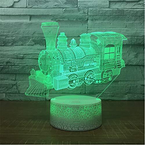 Kinder Beleuchtung Spielzeug 3d Lichter Kreative Zug Nachtlicht Neue Phantasie Elektronik Großhandel Schöne 7 farbe ändern Lampe 3D