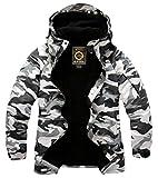South Play Herren Premium Wasserdicht Skijacke Weiß Militär Snowboard Boardwear Jacke Parka (Weiß, Medium)