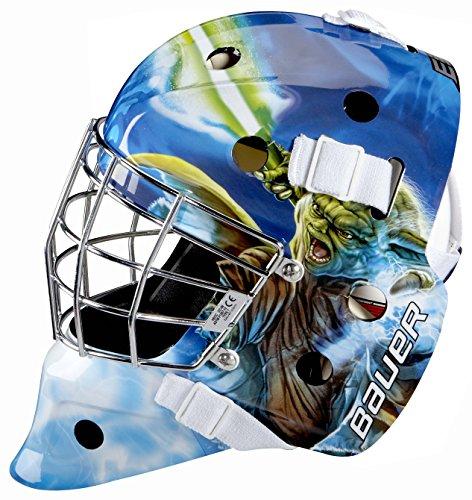 Bauer Start Wars NME Inlinehockey Maske Helm für Straßenhockey für Erwachsene, Sport & Freizeit - Yoda