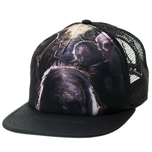 Walking Dead Sublimation Print Black Snapback Baseball Cap (Walking Dead Hats)
