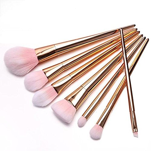Make-up Pinsel Set, Switchali 7 PCs / Set Make Up Pinsel (Rose Gold)