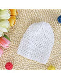 Ashu Supply Soft Stretchable Crochet Beanie Cap Hat for Kids Baby Toddler Winter Warm Clothing Accessory- White