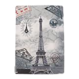 #5: NF&E Smart Thin Folio Stand Leather Case Smart Cover for Lenovo TAB4 10 Plus Retro Tower