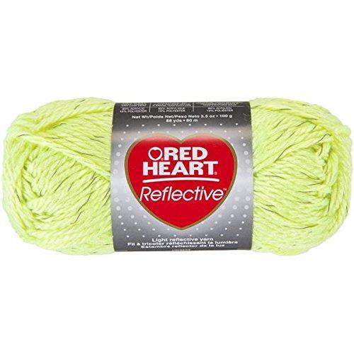 Coats Garn, Rot Herz Reflektierende Yarn-neon gelb, andere, Mehrfarbig, -