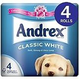 Andrex blanc Papier Toilette 8x 4par paquet