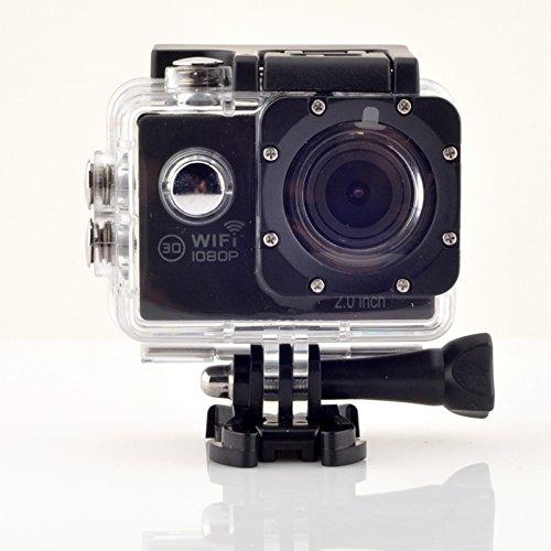 Unchained Warrior 1080P 12MP Wasserdichte Action Sport Kamera mit Batterien-Schwarz - 64 Mb-sdram Kit