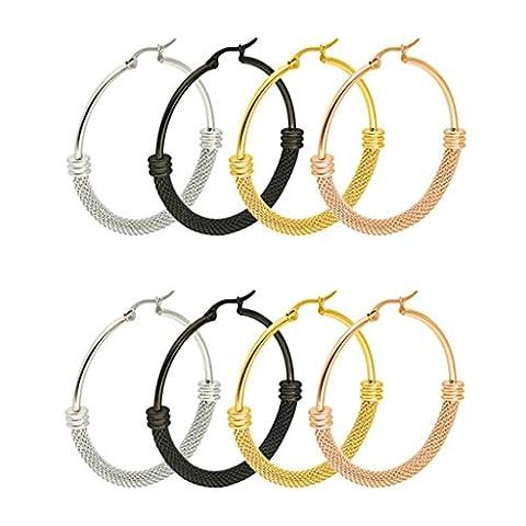 AMDXD Hoop Earrings Stainless Steel Circle Stud Earrings for Women