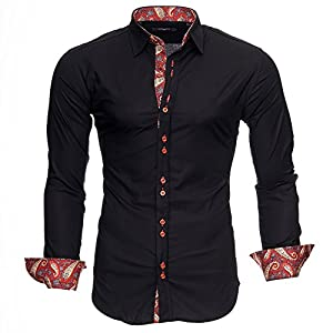 Kayhan Hombre Camisa Manga Larga Slim Fit S – 6XL Modello Royal
