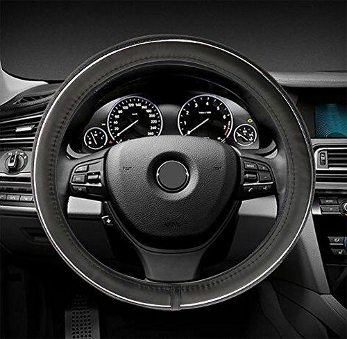 Automotive Lenkradbezug Standard Gr. 14,5~ 38,1cm Universal Fit Auto Truck Van SUV Leder Anti-Rutsch Rad Handschuh Displayschutzfolie,...