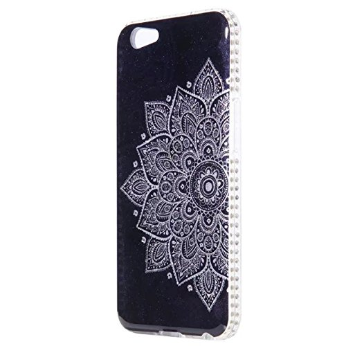 Bling Sparkle Glitter Rhinestone Resin Diamant Schützende Rückseite Cover Case Soft TPU Shell Stoßfänger [Shock Absorbtion] für OPPO A59 F1S ( Color : B ) F