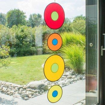 Windspiel - Tambouri Tabla - UV-beständig und wetterfest - Scheiben: 2xØ30cm/2xØ20cm - inkl. Wirbelkarabinerclip und Schnur (Tabla) -