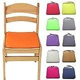 Cuscino per sedia, 11colori 40cm x 40cm morbido Lavabile sedile imbottito, per sala da pranzo da giardino da cucina Taglia libera Orang