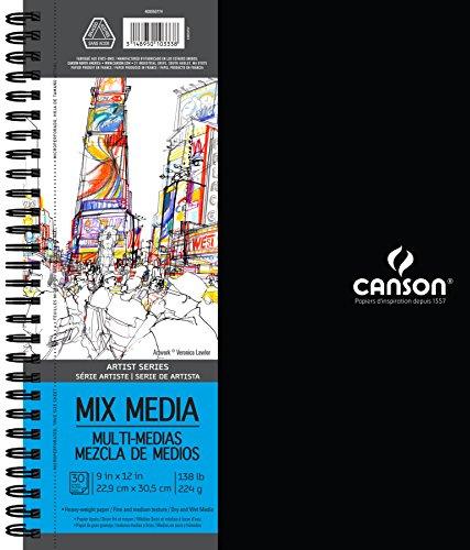 Canson Mix Media Pad (30,5x 30,5cm, 30Hojas