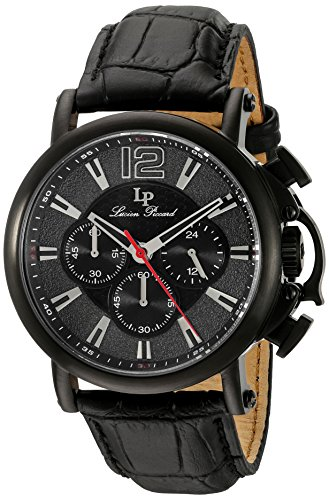 Lucien Piccard Men's Analogue Quartz Watch with Leather Strap LP-40018C-BB-01