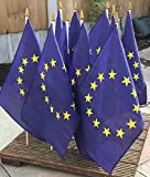 Pack of 10 x EU European GB Referendum Hand Waving Vote Flags *Special Offer*