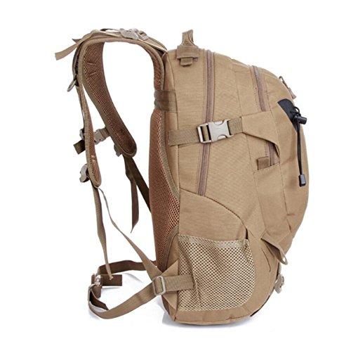 LF&F backpack 20-35L Kapazität wasserdichtes Nylon Militärfans tarnen militärischen taktischen Rucksack Outdoor Bergsteigen Tasche Sport Reise Rucksack Ausrüstung Lieferungen multifunktionalen Rucksac F