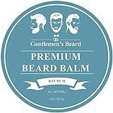 Balsamo da barba Premium al Bay Rum The Gentlemen's Beard - 60 ml - Addomestica la tua barba senza residui di unto - Donale un aspetto più folto - Senza profumo