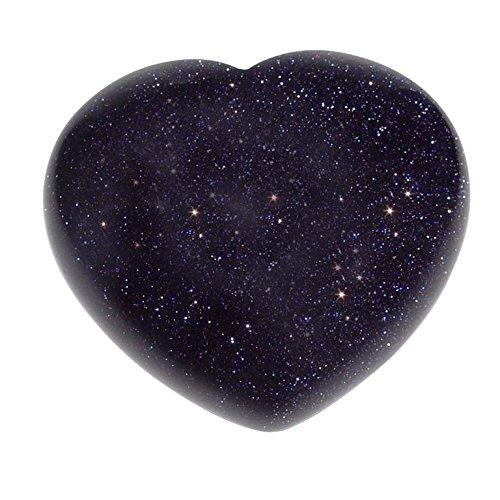 Blaufluss Herz schöne bauchige Form ca. 45x40x25 mm als Handschmeichler