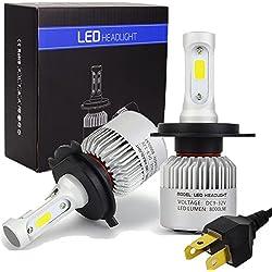 Safego 2x H4 Hi/Lo Faro Bombillas Alquiler de luces LED 60W 8000LM brillante estupendo de la lámpara con la viruta del COB para el coche / Van / Camión / vehículo Car Auto Llevado conduciendo la Luz de Niebla NO CANBUS