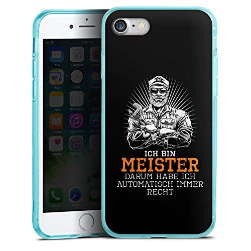 Apple iPhone 8 Silikon Hülle Case Schutzhülle Meister Spruch Handwerk Silikon Colour Case eisblau