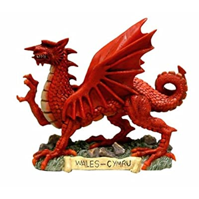 Glorious Britain Welsh Dragon Figurine 13cm