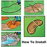 king do way Pond Liner for Garden Landscaping Pools Fountain PVC Membrane Reinforced Puncture Resistance (2.5 * 2.5M) Bild 4