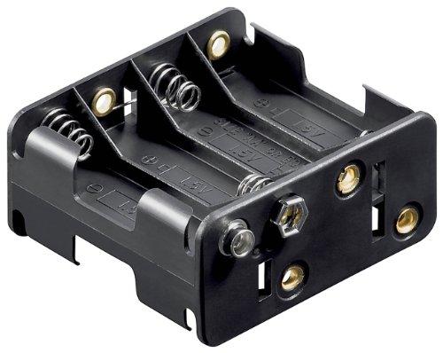 Preisvergleich Produktbild Batteriehalter,  8xmignon 'AA',  mit Druckknopfanschluß