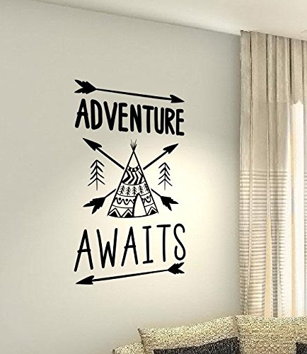 aventure-attend-wigwam-tipi-de-voyage-coeur-life-famille-love-house-together-citation-mur-stickers-s