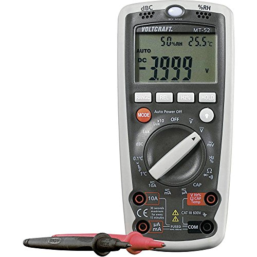 VOLTCRAFT MT-52 Hand-Multimeter digital Umwelt-Messfunktion CAT III 600 V Anzeige (Counts): 4000