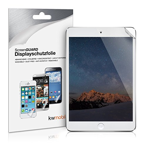kwmobile Apple iPad Mini 4 Folie - Full Screen Tablet Schutzfolie für Apple iPad Mini 4 entspiegelt