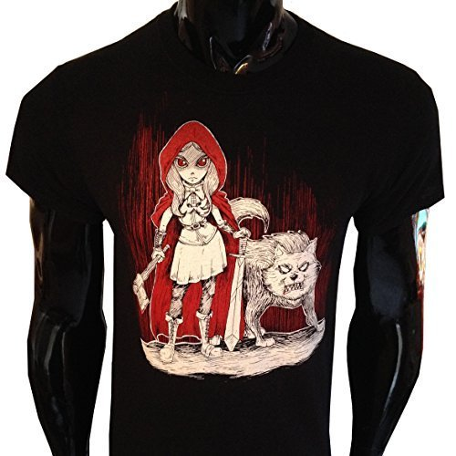 Oscuro Caperucita Roja Camiseta Hombre Gótico Punk Rock Evil Afterlight - Negro, Chica