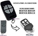 Berner BHS110, Berner BHS140 kompatibel handsender, klone fernbedienung, 4-kanal 868.3Mhz fixed code. Top Qualität Kopiergerät!!!
