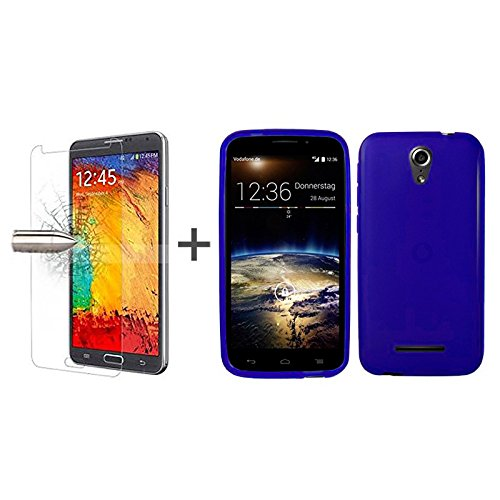 tbocr-pack-blue-tpu-silicone-gel-case-tempered-glass-screen-protector-for-vodafone-smart-4-power-sof