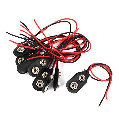 Faux-block (sourcingmap® 10 Stück 9V Block Batterie Clips Schwarz Faux leder schnallen I-Typ Selberbasteln Anschlüsse)