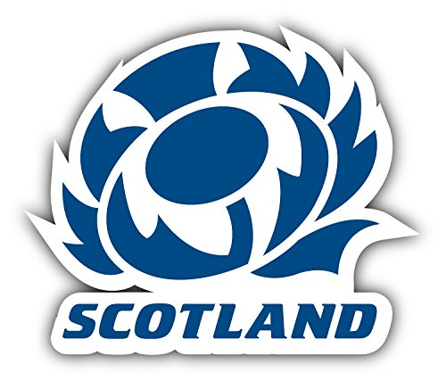 Scotland Rugby National Sport Blue Logo Team Bumper Sticker Vinyl Art Decal for Car Truck Van Window Bike Laptop