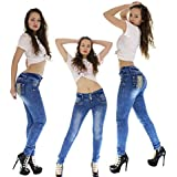 Vaquero Azul Jeans Wonder / Push Up Súper Pitillo Skinny Jeans Efecto Wonder Colombiano 100% Levanta Glúteos Pantalon Mujer